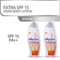 Marina UV White Extra SPF15 Hand and Body Lotion [200 mL/2 pcs]