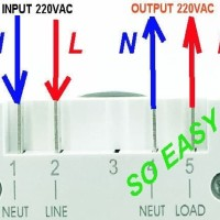 sinotimer TM618H-2 AC 220v mudah di install digital timer countdown
