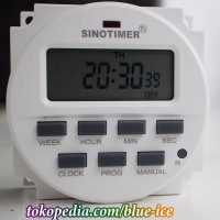 sinotimer digital timer day detik menit DC 12v bisa mode countdown