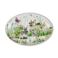 ZEN Piring Oval Spring Meadow - 37 cm (disertai Giftbox)