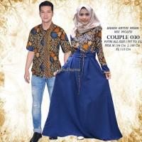 Couple Batik Modern Evelin Lumbung Batik Solo 030 687 couple gamis