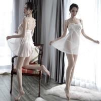 Sexy Lingerie Baju Tidur pola bordir Wanita Transparan G String A209 d2682b02ef