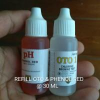 Oto & Phenol Red Refill 30 ml Test Kit Chlorine dan pH - Teskit Air