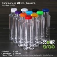 Botol Almond 250 ml / Botol Plastik 250 ml - Ekonomis (GOJEK/GRAB)