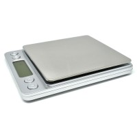 Timbangan Dapur Mini Digital Platform Scale 1kg 0.1g - i2000 - Silver