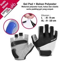 Sarung Tangan Gloves Sepeda BlackForest Dengan Gel Half Finger Hitam