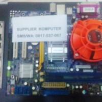 Paket Motherboard Lga 775 G31 + Processor Core 2 E8500 3.16 Ghz + Fan