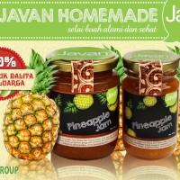 Javan Homemade - Pineapple Jam 120 gr, selai buah nanas roti sehat