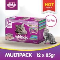 [isi 12 Pack] Whiskas Pouch 85 Gr Makanan Kucing Basah 3 rasa