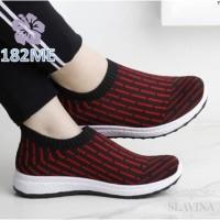 Sepatu Wanita Slipon Sock Lines - 182