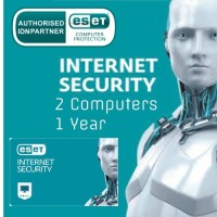 ESET Internet Security 2 Computers New 1 Year