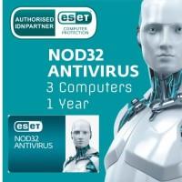 ESET AntiVirus 3 Computers New 1 Year