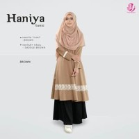 FASHIONISTA GAMIS HANIYA TUNIKA BROWN M BY YASMEERA