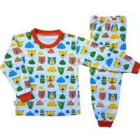 Setelan Baju Tidur Piyama Anak Laki-Laki Lengan Panjang
