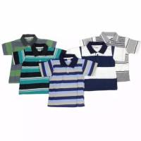 Kaos Kerah Polo Anak Laki Laki Model Salur Bergaris 4-5 Tahun