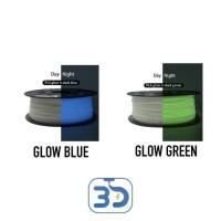 Glow in the Dark 3D Printer Filament PLA dan ABS 1.75 mm
