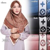 Hijab Segi Empat | Motif LV Square | Panel Maxmara Royal Platinum