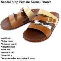 Sandal Wanita Slop Kasual BROWN