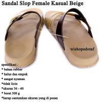 Sandal Wanita Slop Kasual beige
