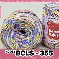 benang rajut katun BCLS D18 SEMBUR 355 - (MIX 3 WARNA)