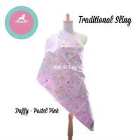 gendongan jadul / cukin motif duffy pink