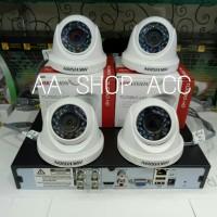 PAKET CCTV LENGKAP 2 KAMERA HIKVISION TINGGAL PASANG