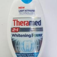 Pemutih gigi Theramed 2in1 Toothpaste + Mouthrinse WHITENING POWER