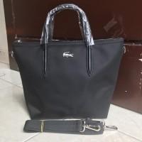 Supplier tas branded wanita cewe murah import LACOSTE SLING TOTE NYLON