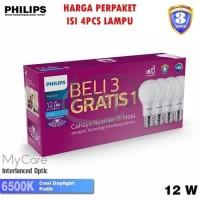 Lampu LED Bulb Philips 13W Paket Beli 3 Gratis 1 13 W Watt 13Watt Bohl