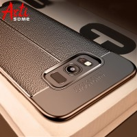 Carbon Case For Samsung Galaxy Note 8 9 S8 Plus Cover Leather TPU Soft