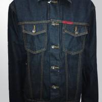 Jaket Jeans Pria Warna Biru Blue Black Lexist Harga MURAH - 58055