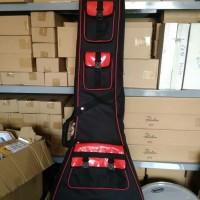 Harga gigbag gitar untuk model flying v tebal 3 cm dan tahan | antitipu.com