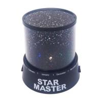 Lampu Tidur LED Proyektor Tanpa Musik Star Master - Hitam