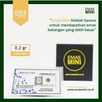 emas mini 0.2 gr (gram), logam mulia, LM, emas batangan