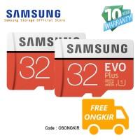 [2pcs] Samsung Evo PLUS 32GB MicroSDHC UHS-I Class 10 + SD Adapter