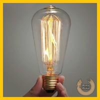 Bohlam Unik Lampu Pijar Vintage Model Bohlam Edison 60W - ST64