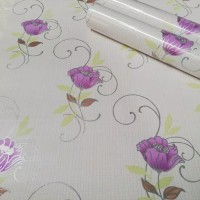 wallpaper murah ik 45cmx10m kode 1209 chinese purple flower