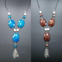 Harga supplier kalung etnik kristal murah rantai wanita hijab mutiara | Pembandingharga.com