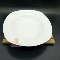 """Piring Pasta Piring Spagetti Piring Makan Segi Keramik 9"""" Lis DA036"""