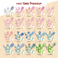 Cable Protector/Pelindung Kabel Spiral-SET CHARGER & HEADSET- CARTOON