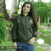 MURAH Promo Bomber Patch Wanita - Jaket Bomber Wanita Distro Bandung
