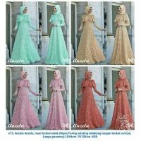 Maxi Dress Gamis Pesta Brokat Muslimah Furing Fashion Remaja Hijabers