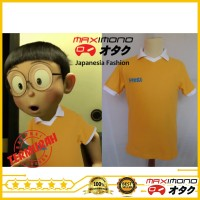 Jual Kaos Polo Nobita Doraemon Anime Murah