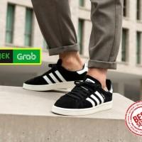 2ff21a8fbd0a38 Sepatu ORIGINAL Adidas Campus Black White Suede