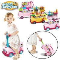 GO! GO! FUNNY BUS Mainan anak 3 in 1 RIDE ON /KITCHEN/TOY STORAGE BOX