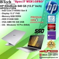 HP EliteBooK 840 G5 - HPQ3VJ12PA Core i7-8550U/8GB/512GB SSD/VGA/3YR