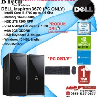DELL Inspiron 3670 i7-8700/16GB/2TB/DVDRW/VGA 2GB/Win10HSL PC ONLY