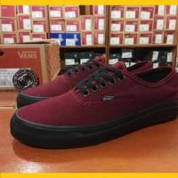 Sepatu Vans Authentic Port Royale Red Maroon Merah Marun Sole Black