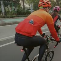 Celana Panjang Sepeda Denim Strechable with Padding