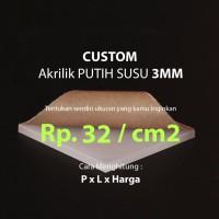 Custom Akrilik potongan 37.5 X 29